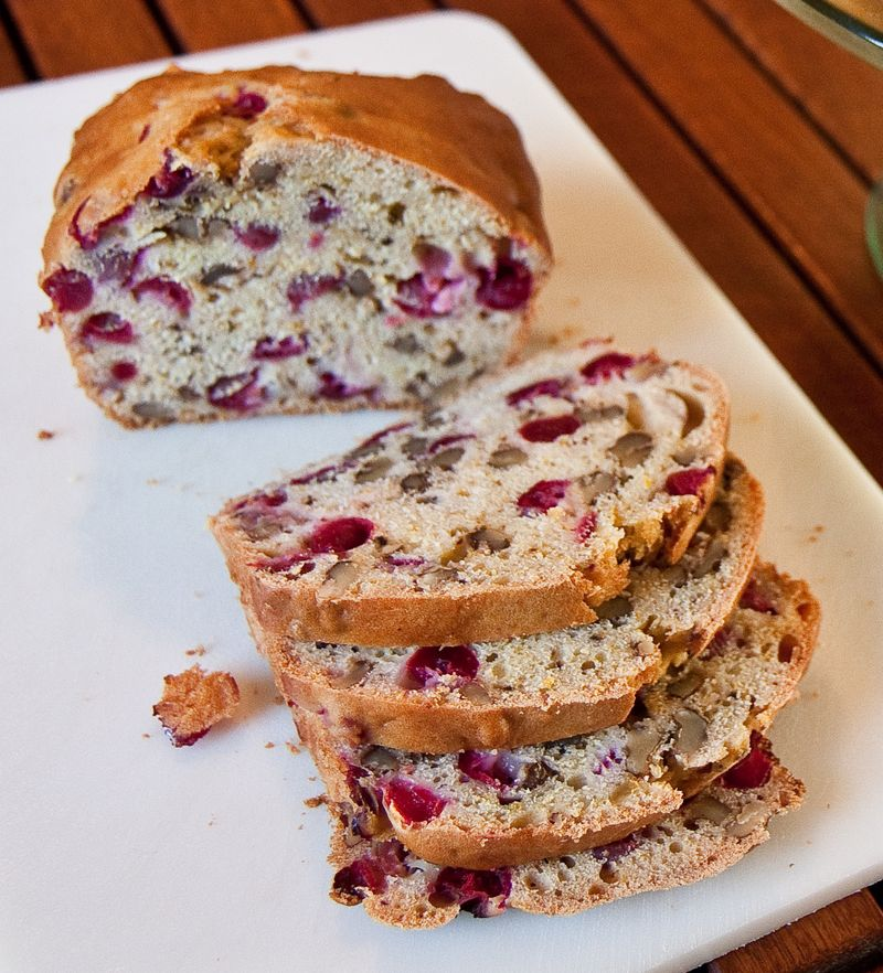 Cranberry Orange Nut Bread-5