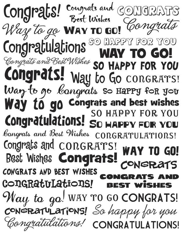 Clear congrats