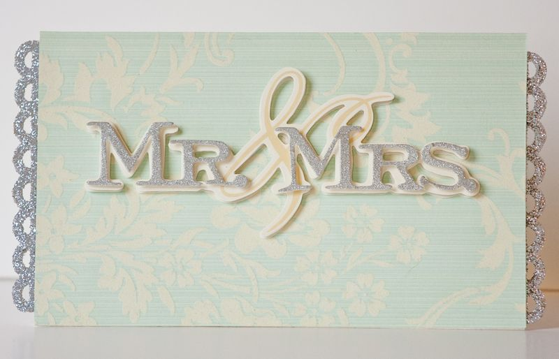 Popping in with a quick idea for a wedding card and gift card holder all in