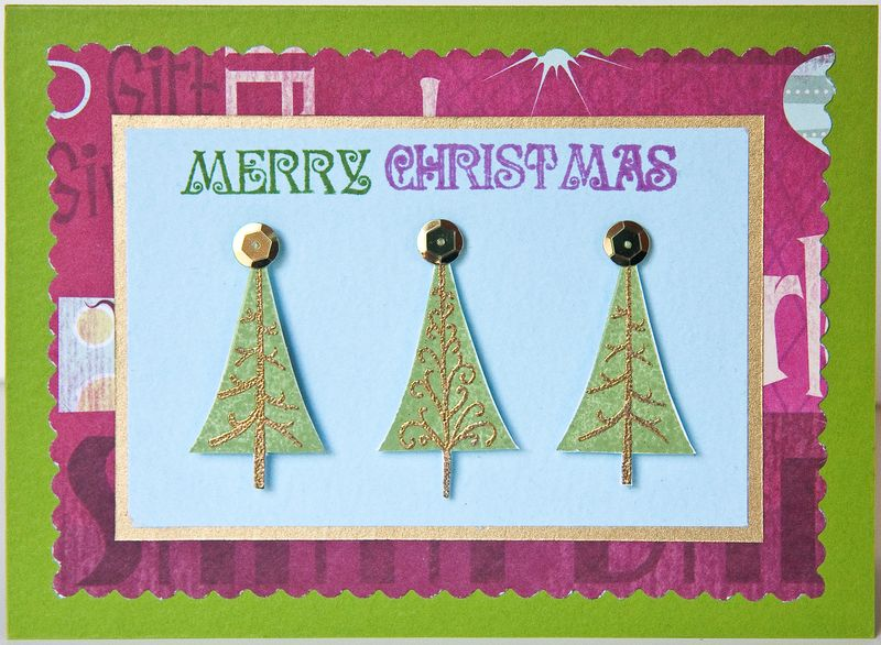 Christmas Trees Card-1