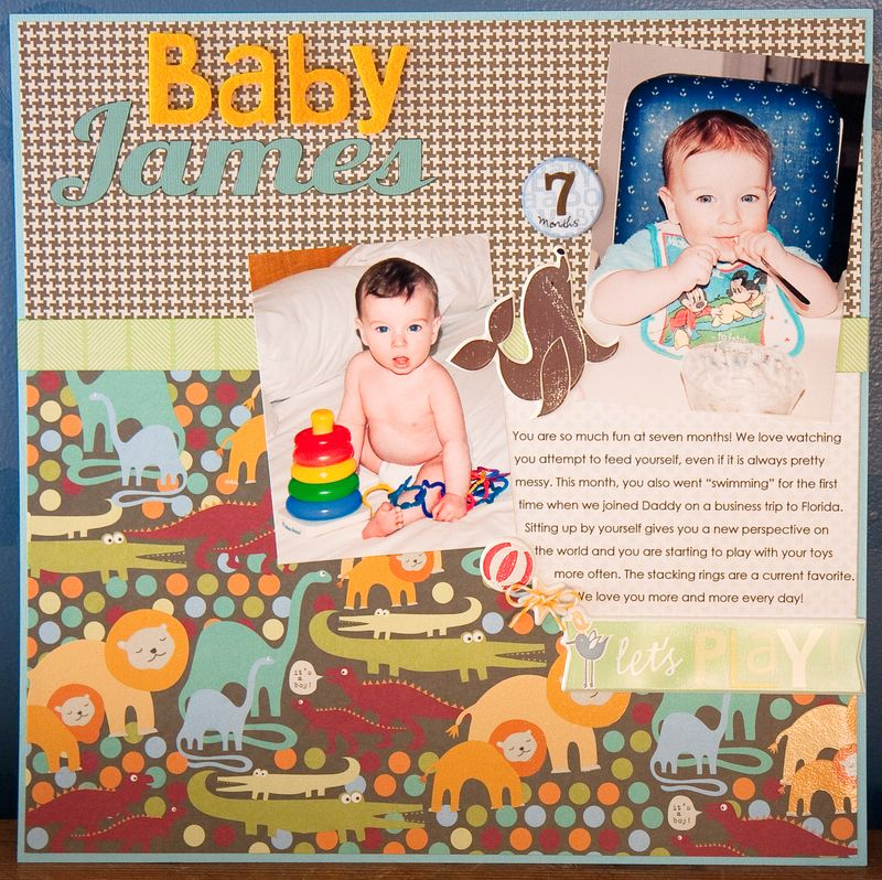 Baby Boy Layout & Bootie-1