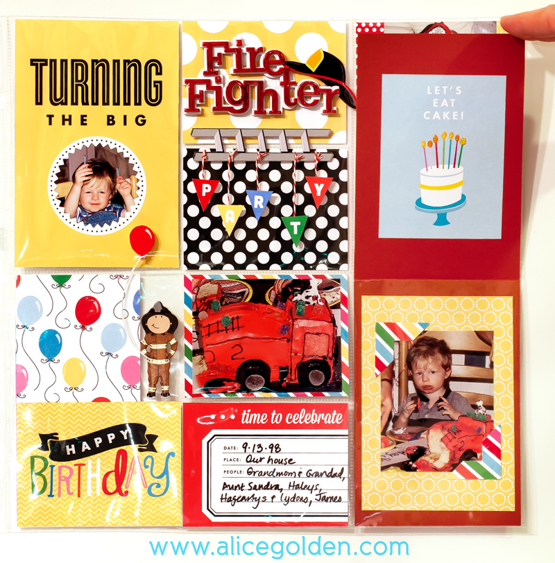 Alice-Golden-Mambi-Pocket-Pages-Firefighter-Birthday-Layout-2