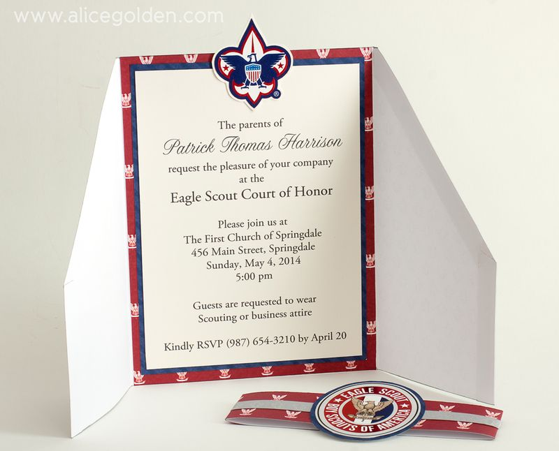Eagle Scout Court Of Honor Invitation And Scrapbook Layout