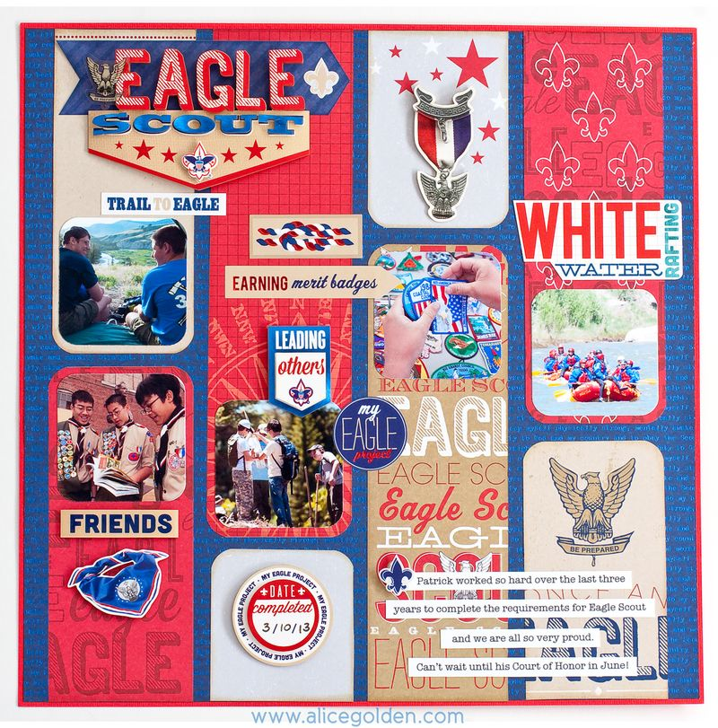 Eagle Scout Court of Honor Invitation and Scrapbook Layout ...