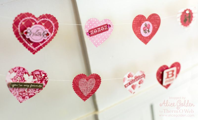Alice-Golden-Therm-O-Web-iCraft-Valentine-Garland-7