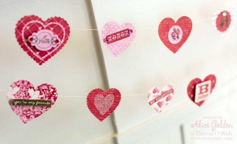 Alice-Golden-Therm-O-Web-iCraft-Valentine-Garland-7