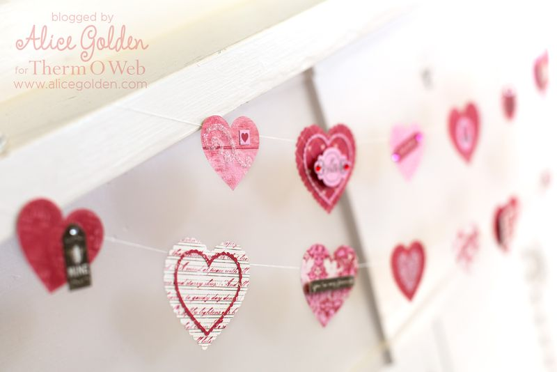 Alice-Golden-Therm-O-Web-iCraft-Valentine-Garland-8