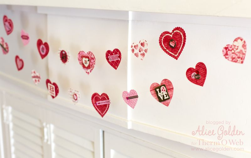 Alice-Golden-Therm-O-Web-iCraft-Valentine-Garland-10