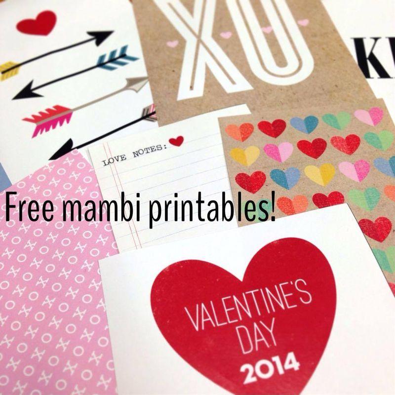 Mambi valentines prints