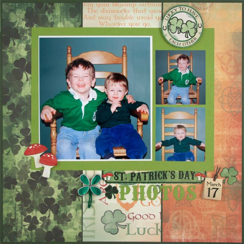 Alice Golden Karen Foster St Patricks Day Layout 1