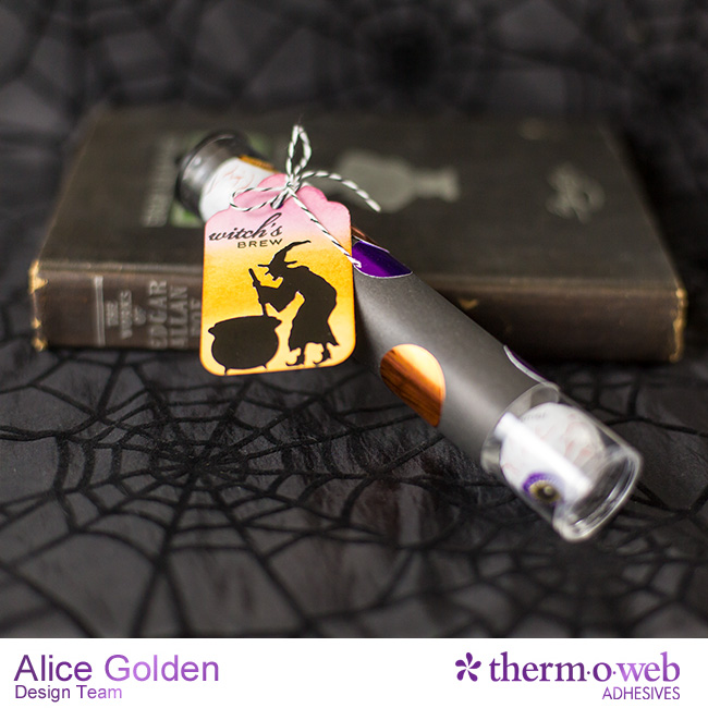 Alice Golden TOW DecoFoil Upcycle Halloween Treat Containers 6