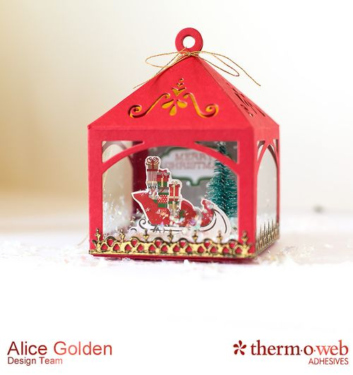 Alice Golden TOW Foiled Christmas Card and Ornament 6