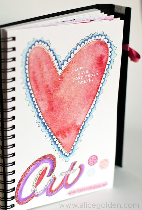 Alice-Golden-Mixed-Media-Art-Journal-Page-1