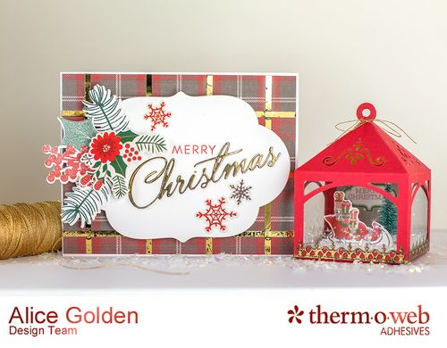 Alice Golden TOW Foiled Christmas Card and Ornament 1
