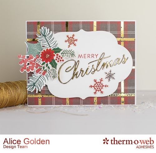 Alice Golden TOW Foiled Christmas Card and Ornament 9