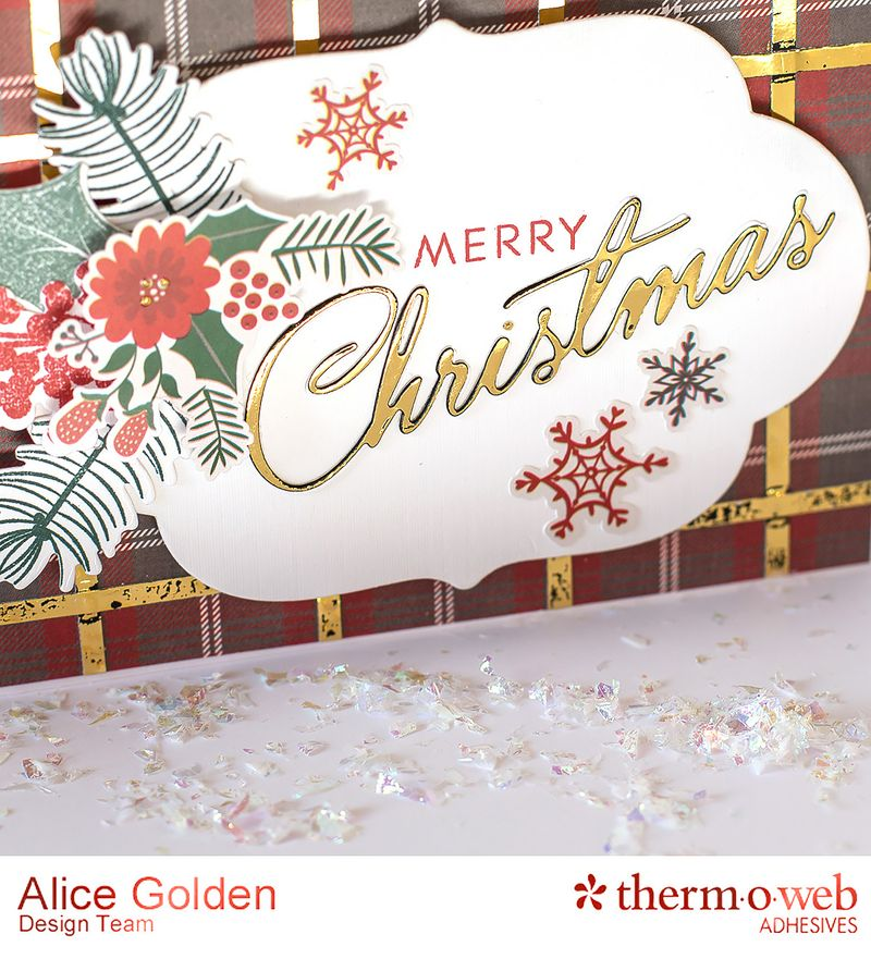 Alice Golden TOW Foiled Christmas Card and Ornament 11