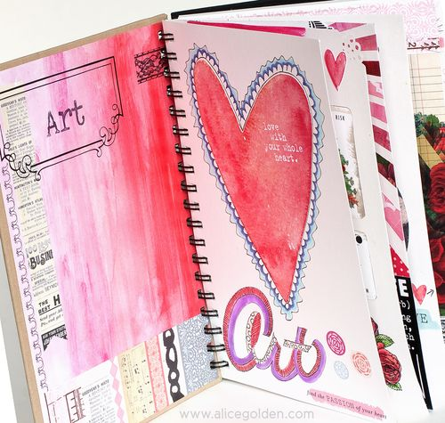 Alice-Golden-Mixed-Media-Art-Journal-Peek