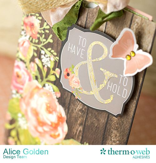 Alice Golden DecoFoil Rustic Elegance Wedding Gift Card Holder 5