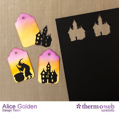 Alice Golden TOW DecoFoil Upcycle Halloween Treat Containers 3